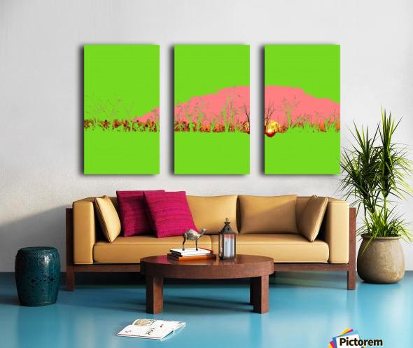 Lake Sunset - Green Split Canvas print