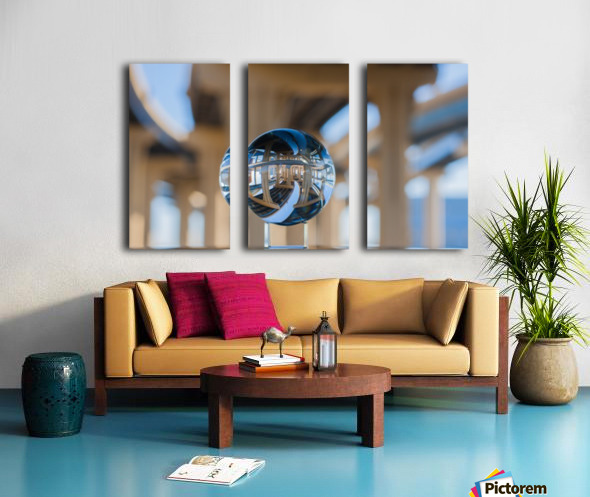 MKE Glass Ball Reflections Split Canvas print
