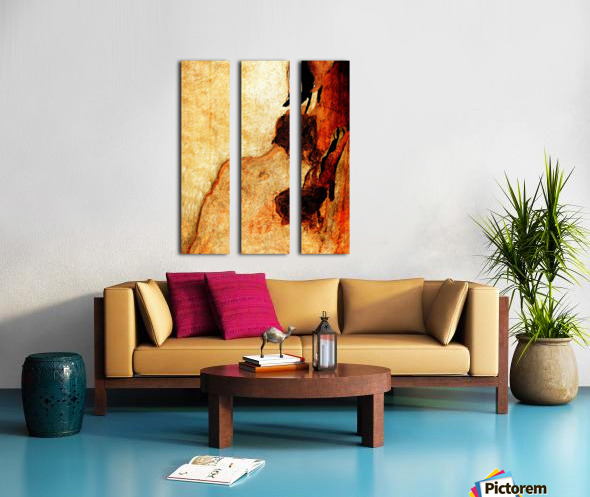 Murray Gum Tree Bark 3 Split Canvas print