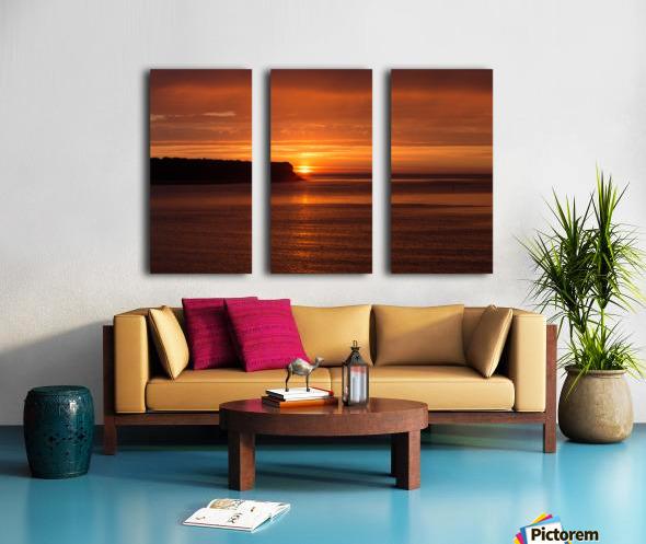 Orange Sunshine Split Canvas print