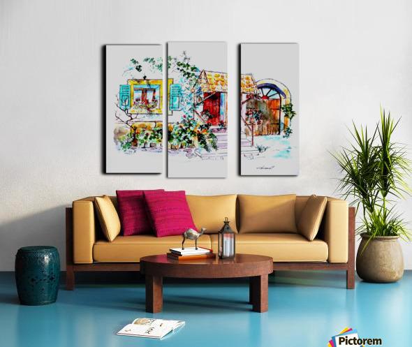 PTS - My House Split Canvas print