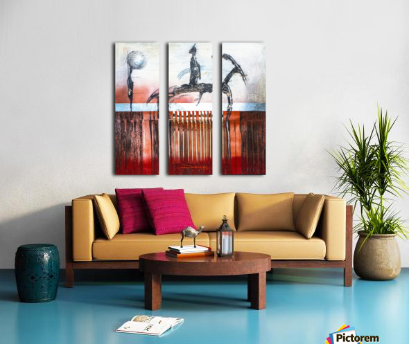 Shadow horserider 4 Split Canvas print