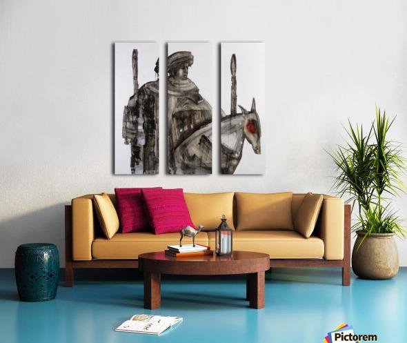 Shadow horserider 5 Split Canvas print