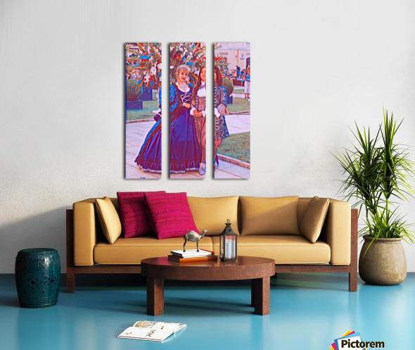 The infant womans partner Split Canvas print