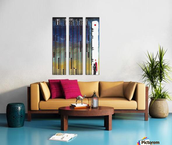 Mozaik 3-cubic Split Canvas print