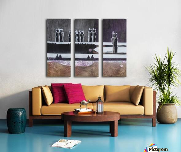 Cubic Africa 3 Split Canvas print