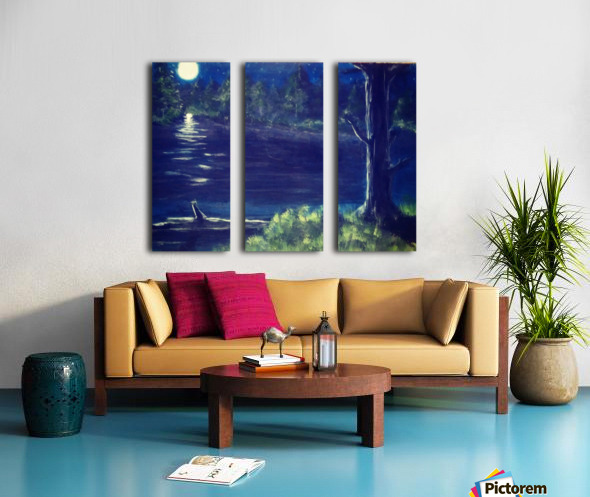 Peaceful Moonlit night Split Canvas print