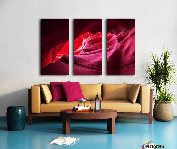 Purple Wave Split Canvas print