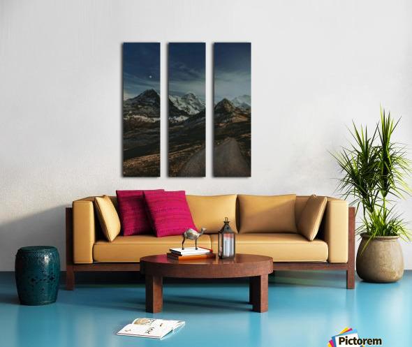 The Long Road Traveled Split Canvas print