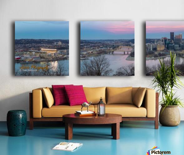 Pittsburgh Split Canvas print