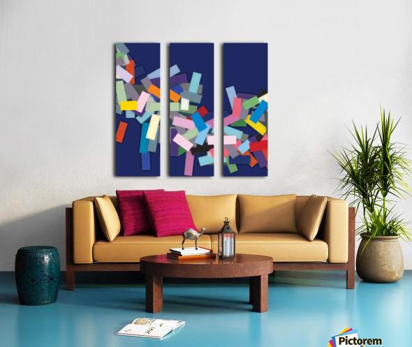 CHIC blue 1  Split Canvas print