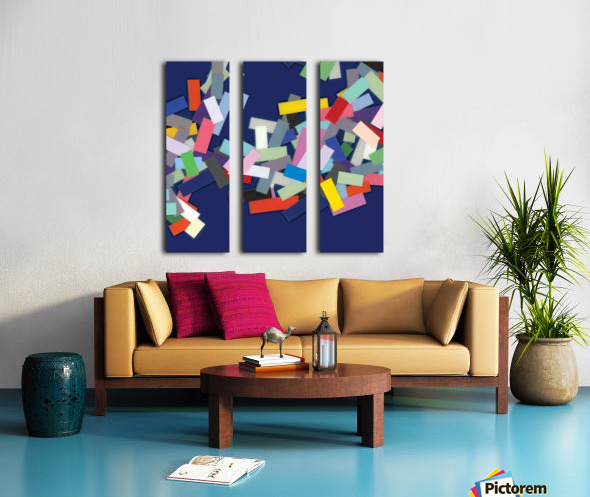 CHIC blue 2  Split Canvas print