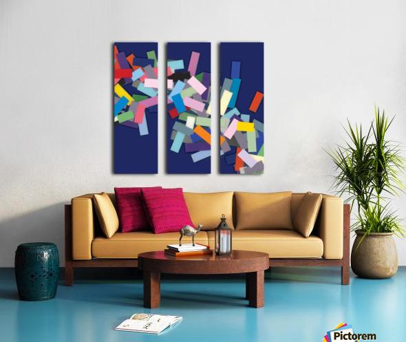CHIC blue 3  Split Canvas print