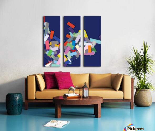 CHIC blue 4  Split Canvas print
