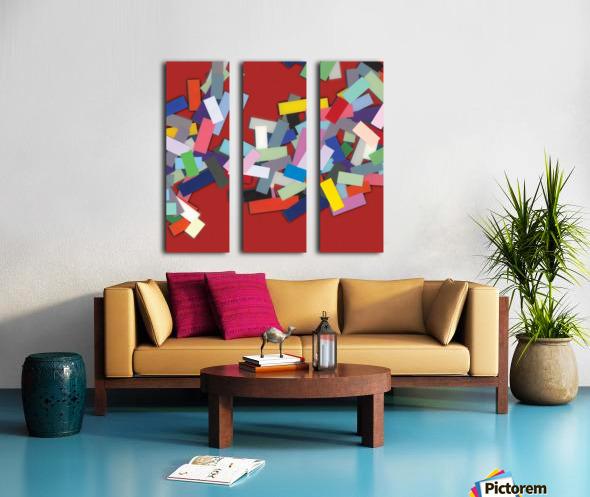 CHIC red 2  Split Canvas print