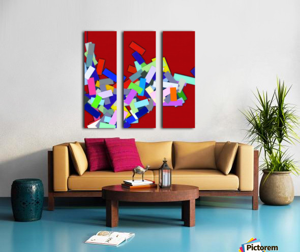 CHIC red 4  Split Canvas print