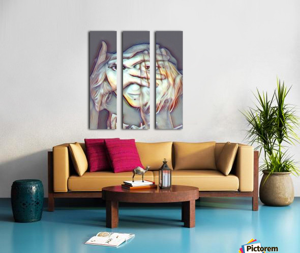 Creative Portrait Split Canvas print