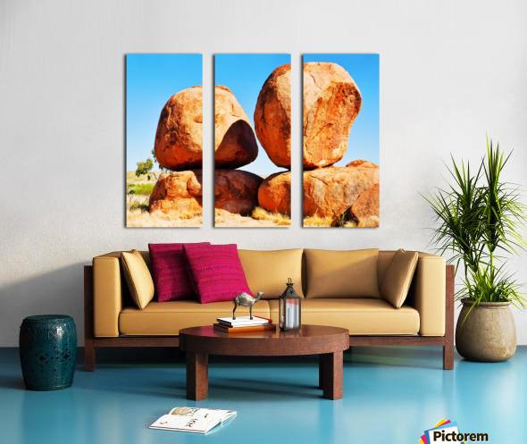 Balance - Devils Marbles Split Canvas print