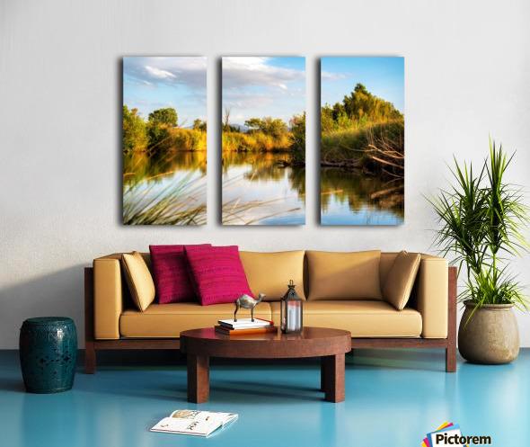 Serene River Split Canvas print