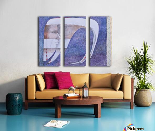 whiteswan and man Split Canvas print