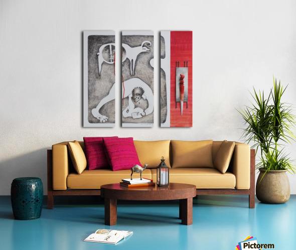 red sacrifice_vermeil Split Canvas print