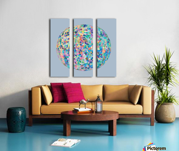 RONDI pastel light blue background Split Canvas print