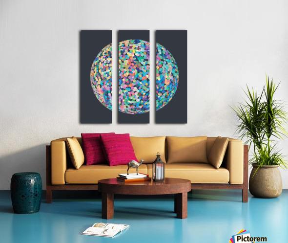 RONDI pastel dark grey background Split Canvas print