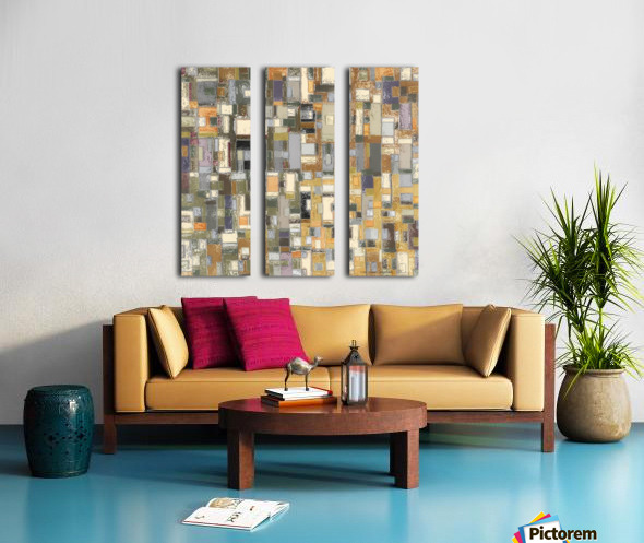 STAGE chrome yellow Split Canvas print