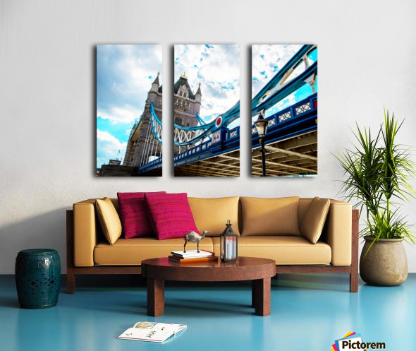 The Might of Tower Bridge Split Canvas print