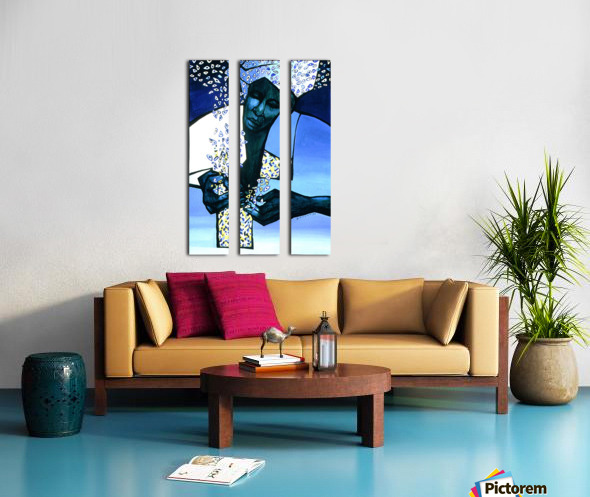blue fragments Split Canvas print