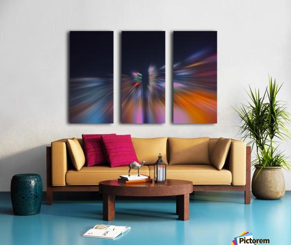 Radial_orangeblue Split Canvas print