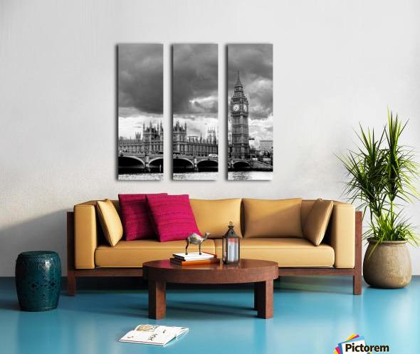 London Frozen in Time Split Canvas print