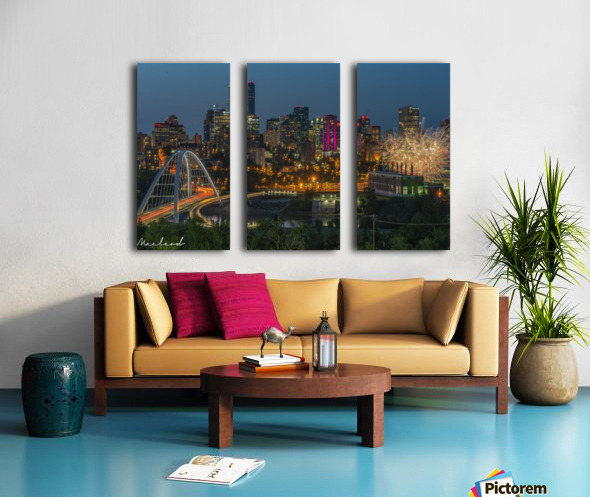 Yeg_Summer_Fireworks_DSC_9295 Split Canvas print