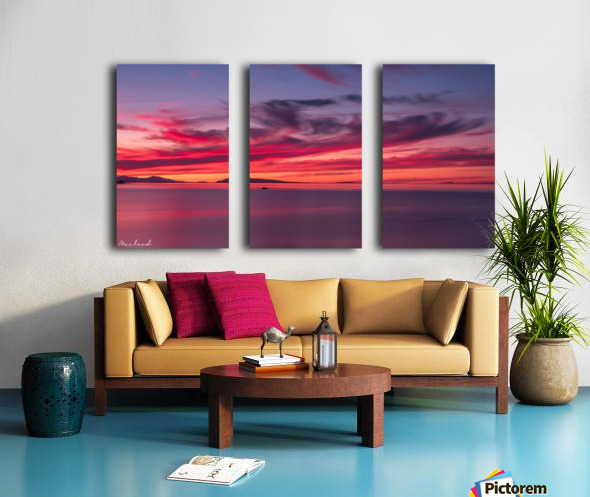 Late summer sunset DSC_3498 Split Canvas print
