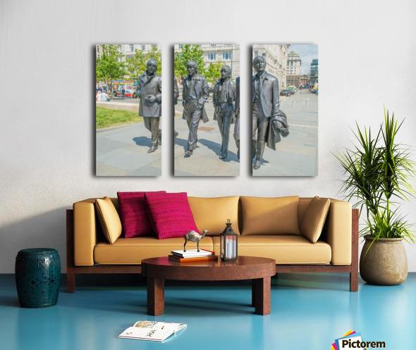 The Beatles Statue Split Canvas print