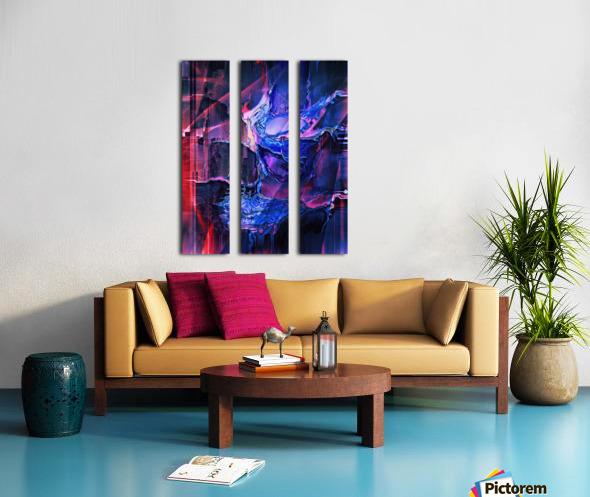 Blue Portrait Split Canvas print