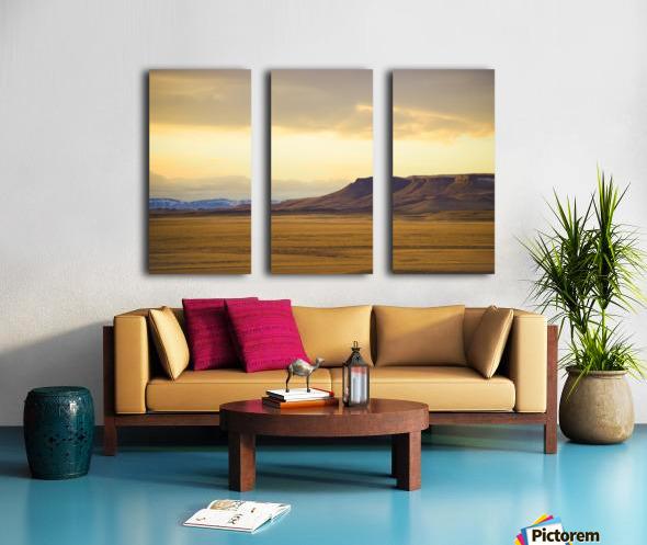 Square Butte Split Canvas print