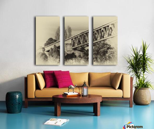 Railway Bridge in B&W Split Canvas print