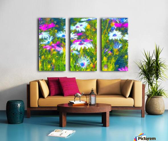 Joyful Daisy Field Split Canvas print