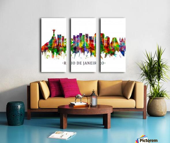 Rio de Janeiro Brazil Skyline Split Canvas print
