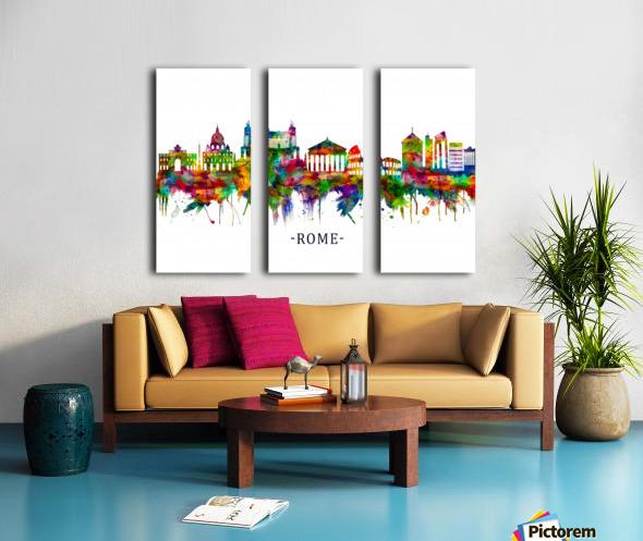 Rome Italy Skyline Split Canvas print