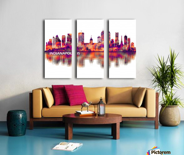 Indianapolis Indiana Skyline Split Canvas print