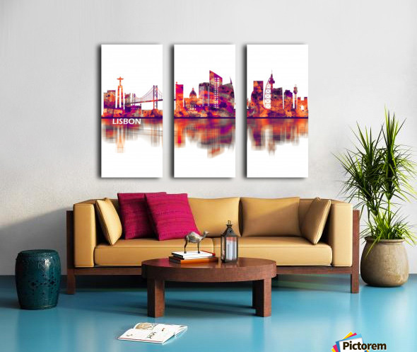 Lisbon Portugal Skyline Split Canvas print