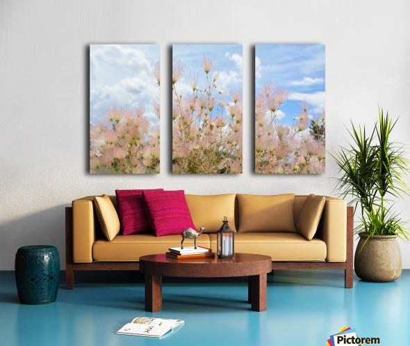 Pink Flora New Mexico Photograph Split Canvas print