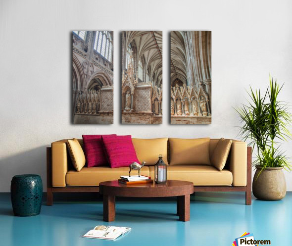 Litchfield Cathedral 3 Split Canvas print