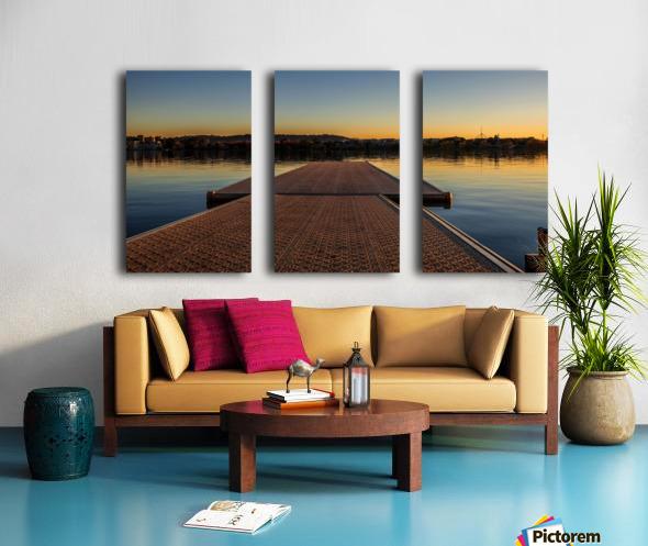 Dock at sunset Split Canvas print