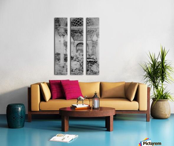 The holy family in a hall Split Canvas print