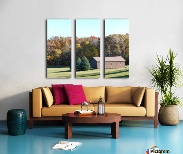 Pole Barn in Fall Split Canvas print