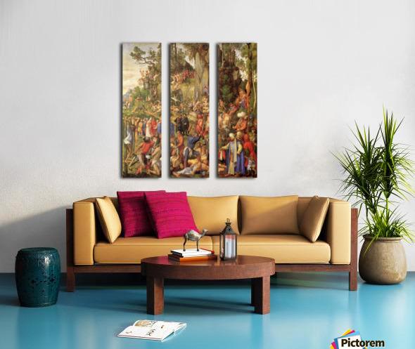 Marter der zehntausend Christen Split Canvas print