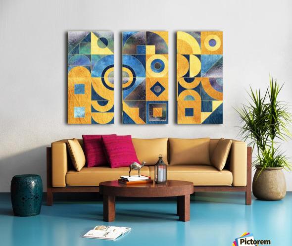 Geometric XXXXXVII Split Canvas print